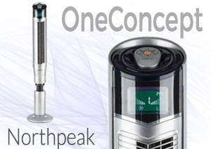 OneConcept Northpeak Ventilador vertical